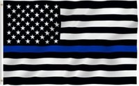 Wholesale 4 colors BlueLine USA Police Flags x5 Foot Thin Blue Line USA Flag Black White And Blue American Flag With Grommets cm