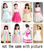 Wholesale Korean Suits For Girls - SUMMER Korean Girls' dresses princess dress baby tutu kid clothing MORE THAN 3-10STYLE MIXED STYLE SUIT FOR 3-7T free shipping
