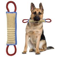 evcil hayvan çekmek için oyuncaklar toptan satış-Köpekler Pet Eğitim Çal Throw İki Yetişkin Köpekler için Kolları ve Puppies ile Yeni İmza Sahibi Keten K9 Tug Oyuncak