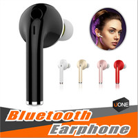 Wholesale Pink Apple Iphone Headphones - Mini Wireless Stereo V1 Bluetooth Headset Earphone Handsfree With Mic Headphones For iPhone 6 7 Samsung S7 S8 S6 Xiaomi and More