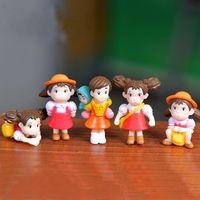 Wholesale miniature christmas - Cartoon Hayao Miyazaki Film Miniatures PVC Cute Anime Figurine DIY Fairy Garden Terrarium Micro Landscape Decoration Kids Christmas Gift