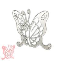 Wholesale Butterfly Die Cuts - DIY Butterfly Metal Cutting Dies Stencil Scrapbook Card Album Paper Embossing Craft Gifts