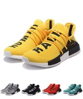 Wholesale Cheap Fashion Sneakers Men - Cheap Mens Running Shoes NMD Second Generation Pharrell Williams X NMD HUMAN RACE White Fashion Breathable women shoes sneakers for men