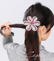 Wholesale ordering african hair resale online - new Softball Baseball Hair Bows Team Order Bulk Listing