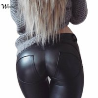 Faux Leder Verdickung PU Elastische Shaping Hip Push Up Hosen Schwarz Sexy Leggings für Frauen Jegging Gothic Leggins Herbst Winter q170637