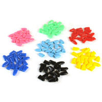 Wholesale Soft Claw Pet Nails - 20pcs   lot colorful cat kitten claw pruning nail claw glue glue soft rubber pet nail cover   claw cap pet supplies XS-XXL