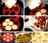 Wholesale egg cake maker - NonStick Flippin Fantastic Pancake Pan Flip Perfect Breakfast Maker Eggs Omelette Flipjack Tools 7 Grids Pancake Maker