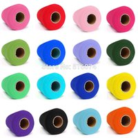 Wholesale Hot Pink Tulle Spool - Wholesale-26 colors Hot Sale Decorations C Tulle Roll Spool 6inch x 100yd Wedding Gift Craft Party Tutu Bow Craft Vivid Tulle DIY