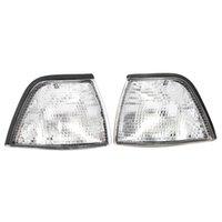 bmw e36 ışıklar toptan satış-Yepyeni 1 Çifti Yepyeni Köşe Işıklar Sidelights BMW E36 3 Serisi 2DR 92-99 İçin