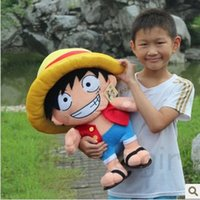 Wholesale Luffy Soft Toy - Cheap,anime figure kawaii toys for kids children's day ONE PIECE luffy plush soft toy doll for baby boy birthday gift