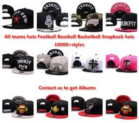 Wholesale Wholesale Custom Embroidered Snapback Hats - Wholesale Trukfit Snapback Hats men women fashion Baseball football basketball custom Caps adjustable snapback DHL free shipping