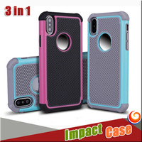 Wholesale Iphone Hybrid Pattern - For Samsung s8 Hybrid Football pattern Case Rugged Impact Rubber Matte Shockproof Heavy Hard Case for iphone X 8 7 LG G5 NOTE8