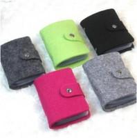 Wholesale Felt Fabric Squares - Korea retro wool felt card pack over 24 -bit card holder bank Card Holders Free shipping a560