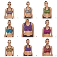 Wholesale Purple Sequin Bra Top - Women Sport Bra Mermaid Fishscale Yuga Cropped Tops With Pad Fitness Clothes Women Sports Bra Clothing S M L DHL Free Shipping