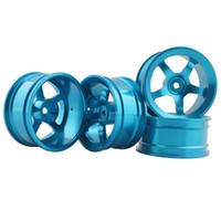 Wholesale Blue Drift Tires - RC Aluminum Wheel 4pc D:52mm W:26mm Fit HSP HPI 1:10 On-Road Drift Car Rim 105B