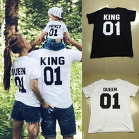 Wholesale mother son fashion clothes - Mother and Daughter Clothes Family Tshirt Father Son Matching T Shirt Fashion Letter Number Print Summer T-shirt New
