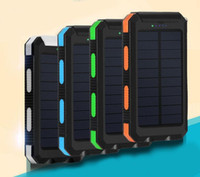 Wholesale External Battery Retail - 20000mAh 2 USB Port Solar Power Bank Charger External Backup Battery With Retail Box For iPhone iPad Samsung