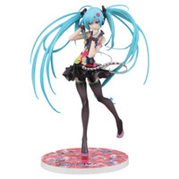 Wholesale Anime Pvc Figure Vocaloid - Vocaloid 2 Hatsune Miku Racing Miku Figures 21 See Japan Anime Saying Your World Ver Pvc Nendoroid Drawings 1 8 Scale Children Hot Toys