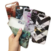 paint protect - Stylish Phone Shell Marble Painted Smooth Cellphone Case Bcak Cover Soft TPU Full Protect For iPhone s Plus Oppbag