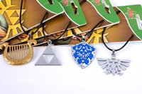 Wholesale Legend Zelda Accessories - Necklace The Legend Of Zelda Ocarina Of Time Pendant Metal Torque Personality Fashion Action Figures Kids Gift Decoration 5my H1