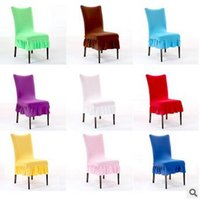 Wholesale Computer Chairs Wholesale - Multicolor Folds Skirt Chair Covers Office Computer Half Seat Chairs Cover Elastic Chair Cover 15*36cm CCA5988 120pcs