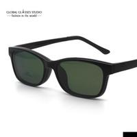 Wholesale Magnet Rectangle - Free Shipping Light Eyewear Magnet Polarized Sunglasses Clip Prescription Eyeglasses Fashion Magnetic Sunglasses 5139