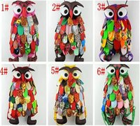 Wholesale Colorful Girl Owl - 2017 Colorful Ethnic Style Owl Children Package Kids Girls Fashion School Bags Chinese Characteristics New JJA31