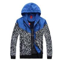 Wholesale mens long coat pattern - 2017 Brand Men Jacket Coat Women Sweatshirt Hoodie Long Sleeve With Logo Autumn Sports Zipper Windcheater Designer Mens Clothes Hoodies