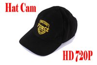 Wholesale Hat Spy Camera Hd - HD 720P Spy Hidden Hat Camera Wearable Covert Cap Camera Spy Cap Camcorder Video Recorder Mini Cap DV with remote control