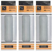 Wholesale Arduino Proto - Ivolador 3pcs Breadboard 830 Point Solderless Prototype PCB Board Kit for Arduino Proto Shield Distribution Connecting Blocks