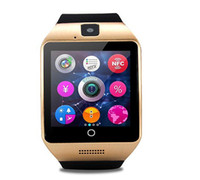 Wholesale Sampling Rate - Q18 smart watches one peice sample Bluetooth Smartwatch with Camera Support Tf sim Card Slot Bluetooth NFC Connection