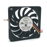 soğutma fanı 12v teller toptan satış-EVERFLOW R127010BU DC 12 V 0.45A 3 Teller 7 CM 7010 kare soğutma Fanı bilgisayar kasası soğutucu
