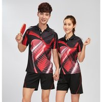 Wholesale Table Tennis Shirts Women - Hot new badminton clothing   table tennis clothes man   woman (shirt + shorts) table tennis clothes breathable quick dry suit