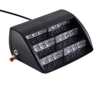 18 LED 4-6W Frente trasero de vidrio Lechón Super brillante Flash Strobe coche luces de la escalera de advertencia Amarillo iluminación Vechicle de emergencia