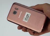 розовый четырехъядерный телефон оптовых-Розовый Samsung Galaxy S7 G930F 5.1-дюймовый четырехъядерный 4GB 32GB 4G LTE разблокирован сотовые телефоны оригинальный ЖК-дисплей