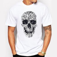 Wholesale Doodle Top - Camping & Hiking T-Shirts Casual Doodle Summer Skull anime Cartoon T Shirt Tops & Tees Men T-shirt funny tee shirt homme