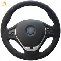 Wholesale Bmw 328i - Mewant Black Suede Car Steering Wheel Cover for BMW F30 320i 328i 320d F20