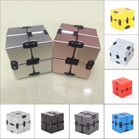 Wholesale Kids New Toys Arrivel - New Arrivel Fidget Infinity Cube Metal Aluminum Plastic ABS For Stress Relief Fidget Anti Anxiety Stress Funny EDC Toy