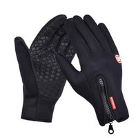 Wholesale Black Baseball Glove - Touch Screen Windproof Outdoor Sport Gloves For Men Women waterproof gloves