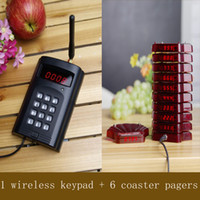RDA-9000-1B6P paging server - wireless paging system wireless server bell take food pager coaster pagers wireless keypad charger base shell type pager singcall