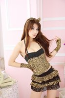 Wholesale Sexy Ingerie - women ingerie cat lady Cosplay ropa interior mujer sexy erotica leopard cat porno catsuit sexy costumes disfraz servant women