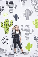 Cartoon Cactus Niños Fotografía Contexto Vinilo Digital Impreso Niños Picture Backdrops Kids Fondos para Photo Studio