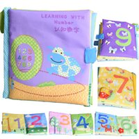Wholesale Baby Reading Books - Wholesale- Baby Learning Education Toys Reading Cloth Books Baby Toys 0-12 Months Learning Number Infant Kids Early Development Cloth Books