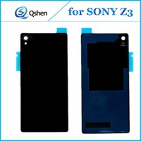 Wholesale Best Back Covers - Best Quality For SONY Z3 New Battery Door Housing Back Cover Case Cell Phone Repair Parts Replacement