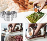 Wholesale metal spice jars resale online - New High Grade Visible Stainless Steel Barbecue Jar Multifunction Sprinkle Seasoning Cans Creative Kitchen Cooking Tool