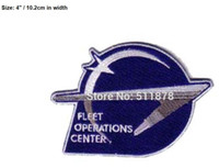 """Wholesale Sewing Center - 4"""" Star Trek Enterprise era Starfleet Patch 50% OFF FOR 10 LOTS Command Fleet Ops Center TV movie Embroidered sew on iron on"""