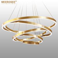 Large Rings LED Pendant Lights Gold Silver Hanging Suspension Lamp for  Restaurant Pendant Lamp Acrylic Circle Lampadario Lustres Lighting