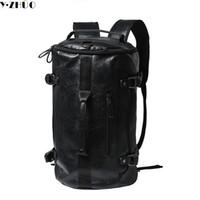 ingrosso sacchetti di computer di alta qualità-All'ingrosso Y.ZHUO zaini uomo in pelle di alta qualità unisex vintage borsone borsa a tracolla grande capacità borsa del computer portatile uomini borsa da viaggio