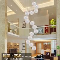 candelabro moderno minimalista escaleras dormitorio creativo restaurante burbuja bola de aluminio tienda de ropa colgante