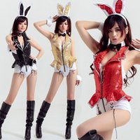Wholesale Sex Night Dresses - Stage Costume Rabbit Cosplay Sexy Lingerie Hot Night Club DS Jazz Dancing Uniform Adult Sex Dress Women's Underwear Adult Games Costumes